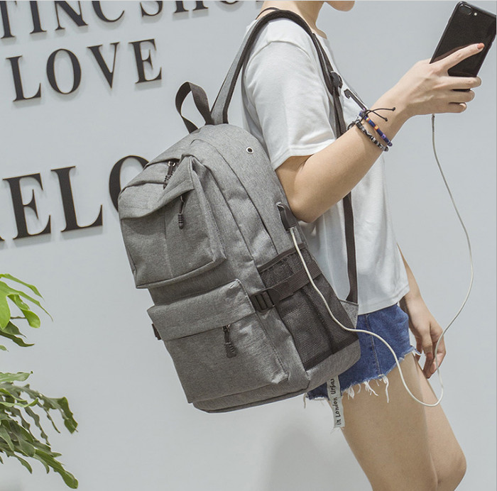 Foto Produk NEW Tas Ransel USB port charger,Smart Backpack Anti Air Anti Maling - Hitam dari angel-city