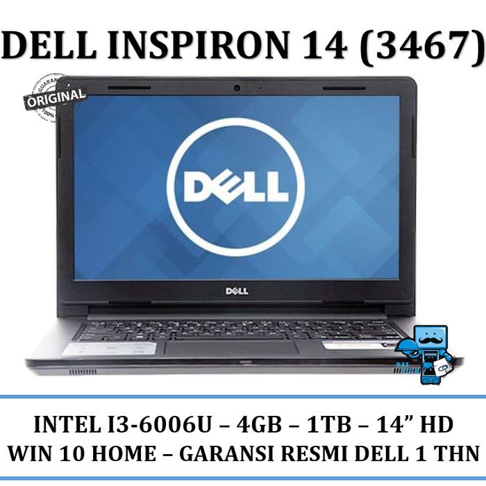 harga Notebook / laptop dell inspiron 14(3467) - intel i3-6006u - ram 4gb Tokopedia.com
