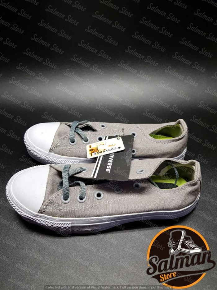 Jual Sepatu Converse All Star Grey CT2 LOW Cuci Gudang Murah - Grey ... e4389114d6