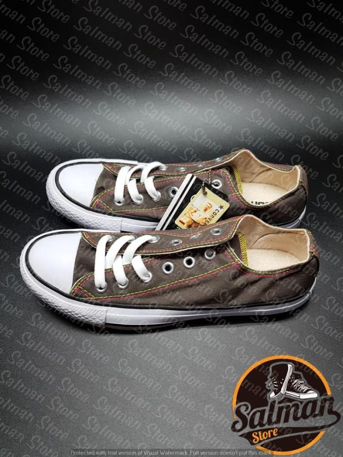 Sepatu Converse All Star Brown Rainbow LOW Cuci Gudang Murah - Cokelat cb2f7451d7