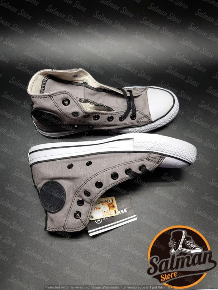 Jual Sepatu Converse All Star Grey Black HIGH Cuci Gudang Murah ... c8c04f9fa9