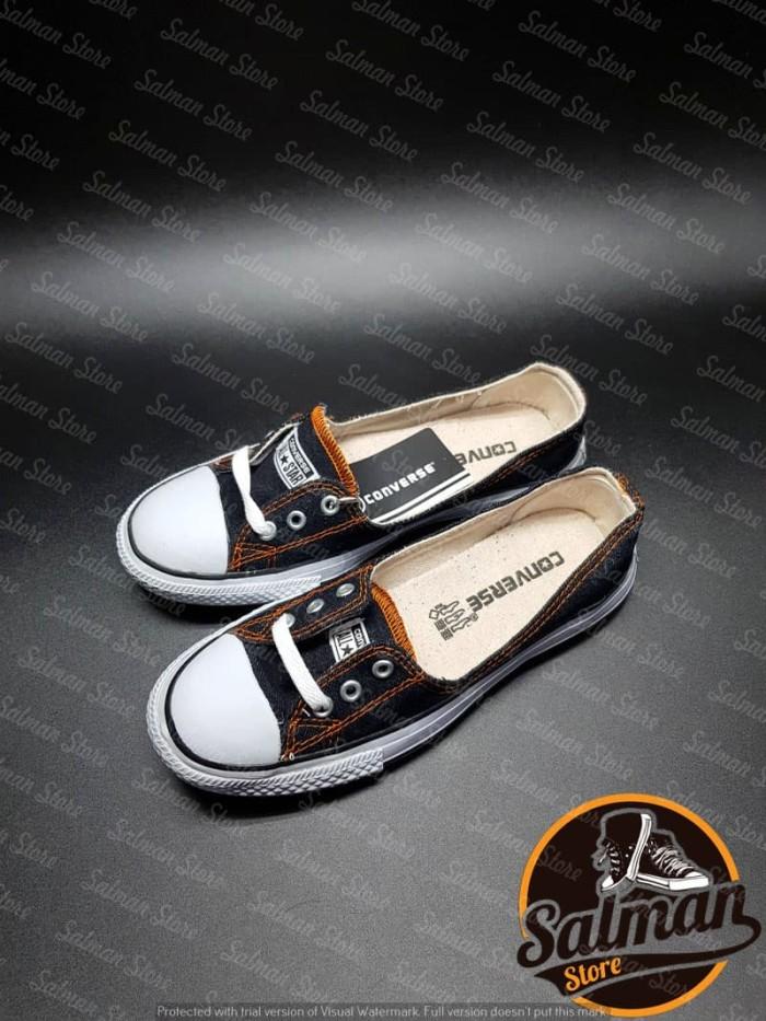 Jual Sepatu Converse All Star Black Denim LS Cuci Gudang Murah ... d12b804a5d