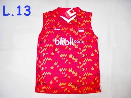 harga Baju badminton / bulutangkis singlet lining l.13 blibli kotak red Tokopedia.com