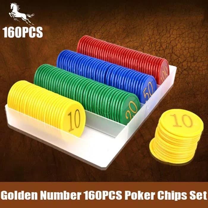 harga Poker chips set /poker chip /chips poker isi 160pcs Tokopedia.com
