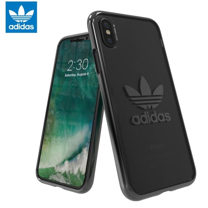 premium selection 7782b 82291 Adidas Originals Trefoil Clear Case iPhone X - Gunmetal