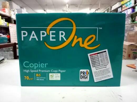Foto Produk Kertas Hvs paper one B5 70 dari Bumi stationery
