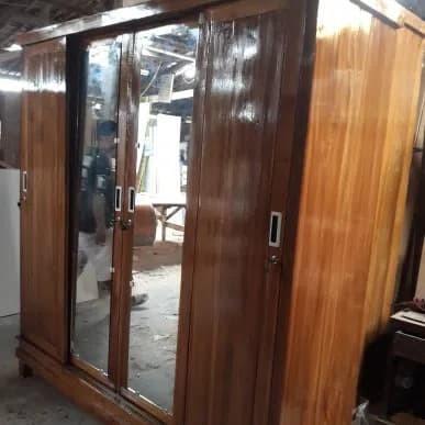 harga Lemari 4 pintu sliding jati ready stok Tokopedia.com