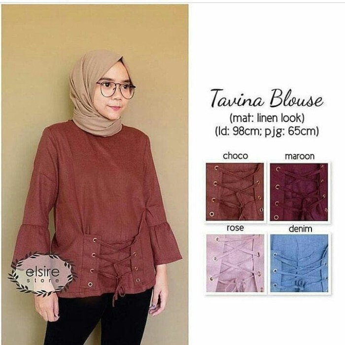 Tavina blouse pakaian wanita