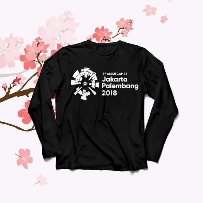 Baju Kaos Lengan Panjang Asian Games O-Neck For Cewe Tumblr Tee Long -