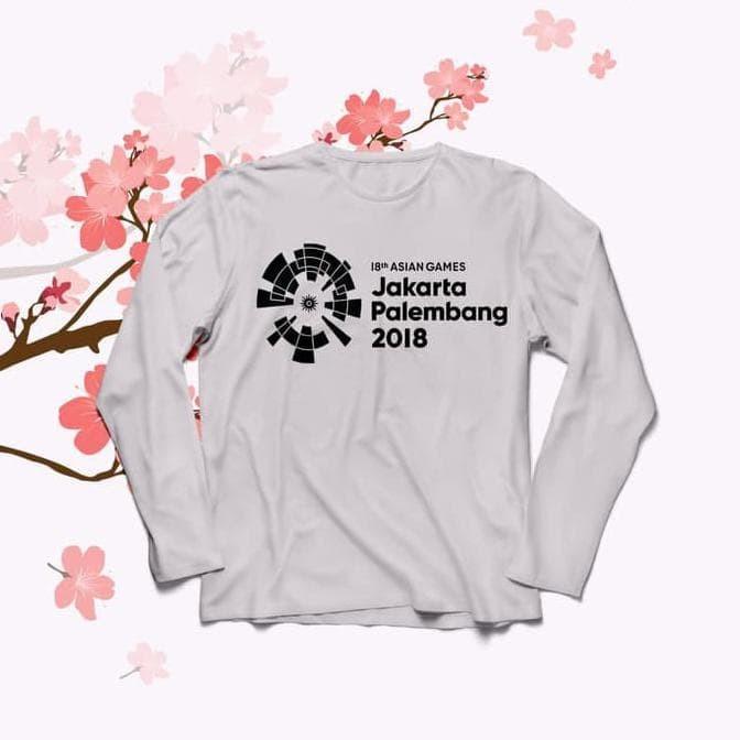 Jual Baju Kaos Lengan Panjang Asian Games O Neck For Cewe Tumblr Tee Long Harga Rp