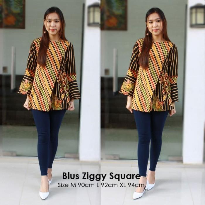 harga Batik solo blus ziggy square anggraini batik amanah surakarta 90.000 Tokopedia.com