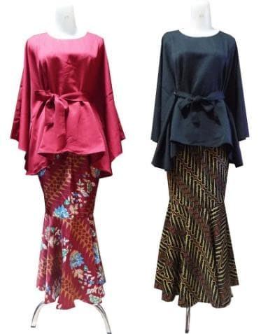 Jual Setelan Kebaya Modern Batwing Rok Duyung Kebaya Setelan Model Duyung Dki Jakarta Markas Dagang Tokopedia