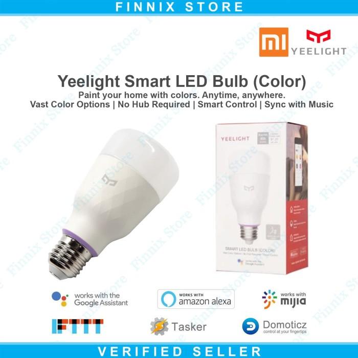 Xiaomi Yeelight Smart Light Bulb V2 10w Rgb E27 YLDP06YL - Lampu Bohlam Led - Blanja.com
