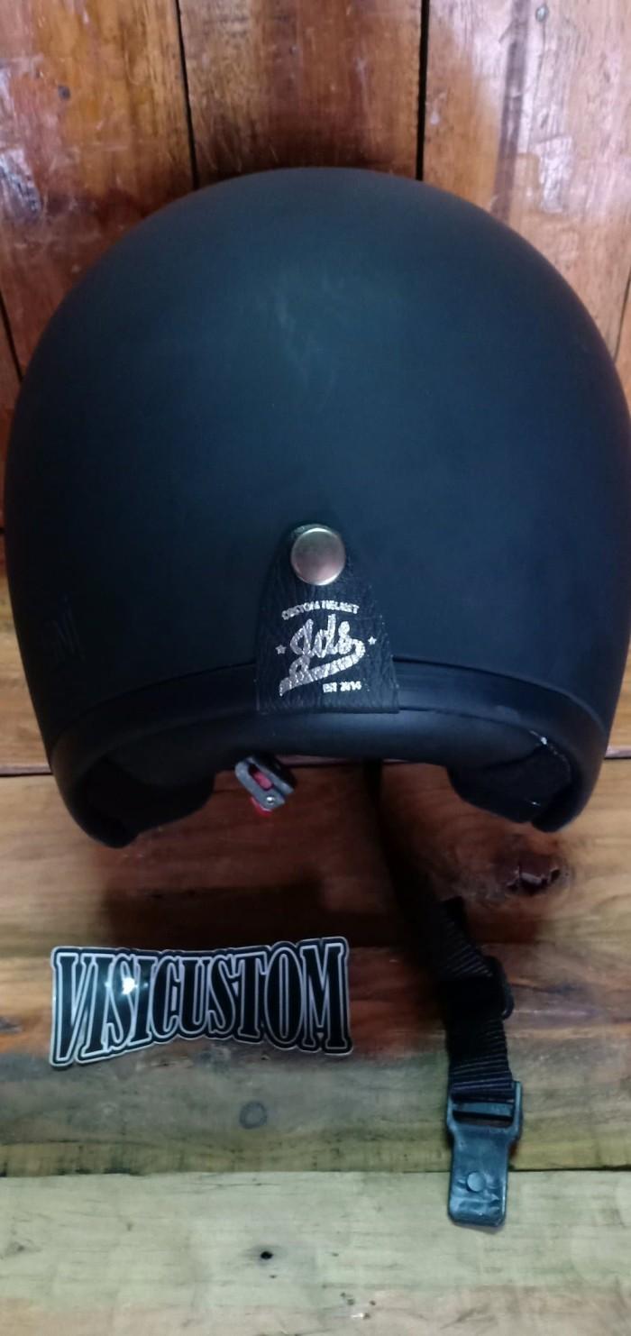 harga Helm retro helm japstyle helm bogo helm vespa hitam doff Tokopedia.com