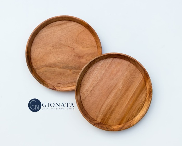 Foto Produk Wooden Plate / Piring Kayu dari Dekornata