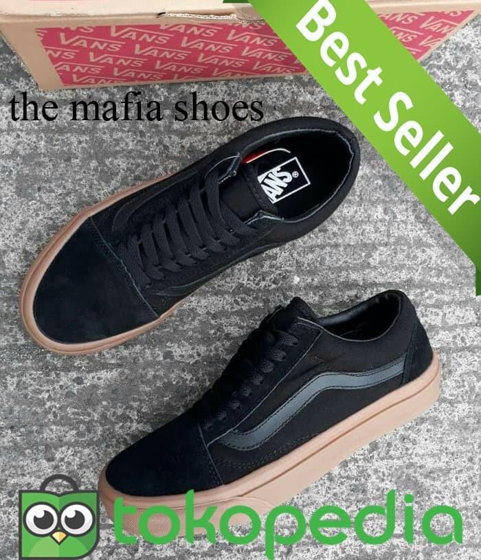 Jual PROMO..! sepatu vans oldskool black gum. import b1da49cd6e