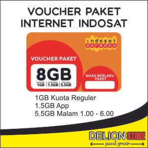 Jual Voucher Paket Internet Indosat 8gb Delion Store Tokopedia