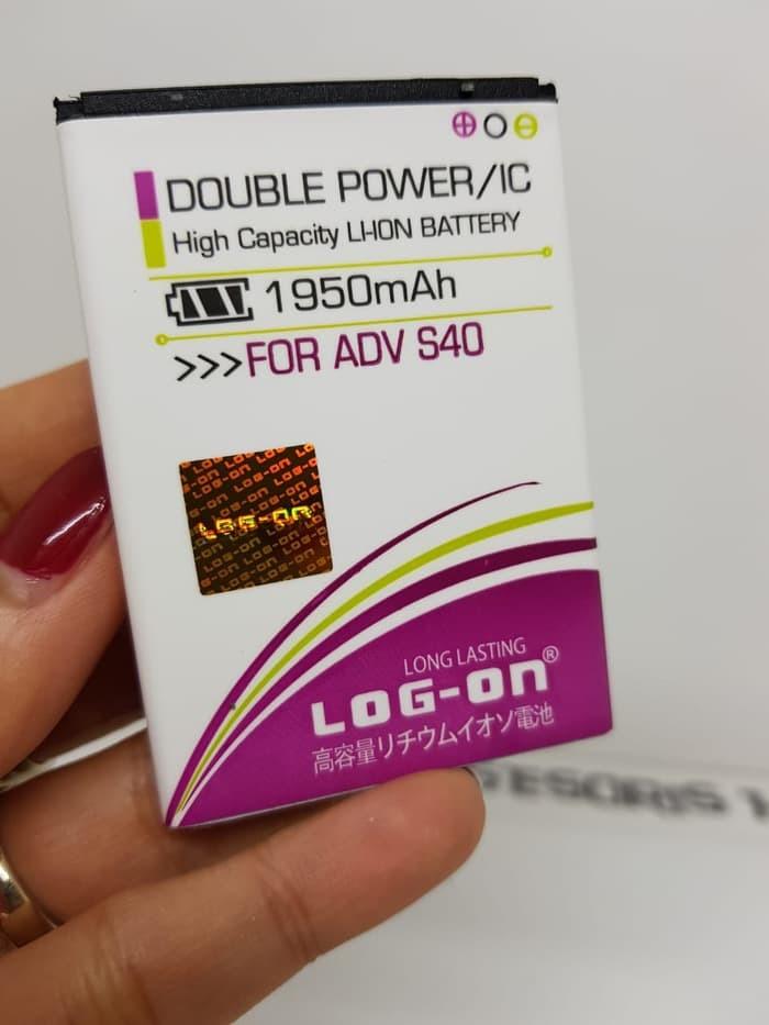 Baterai Advan S40 4G LTE Battery LOG-ON Double Power 2 IC 1950mAh