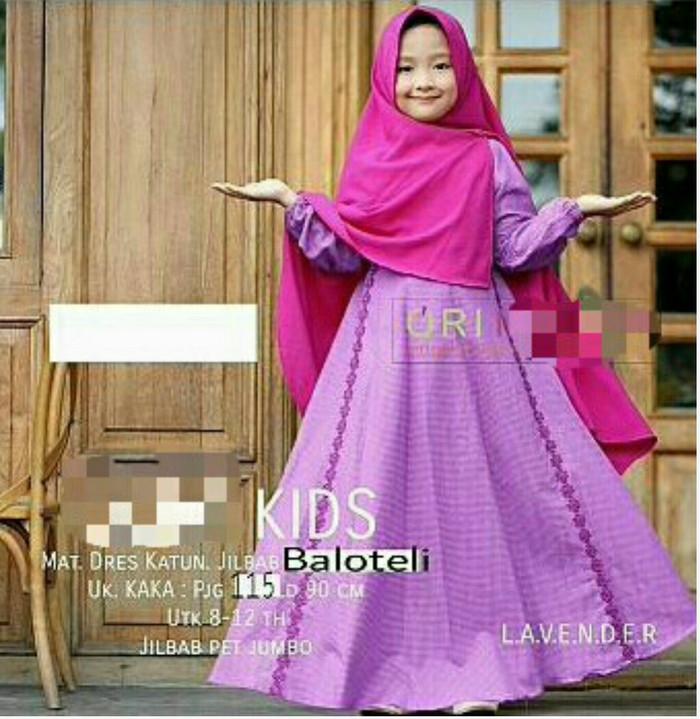 Foto Produk Baju Gamis anak syari Kids/hijab balotely/Hijab anak perempuan dari PONDOKKU74