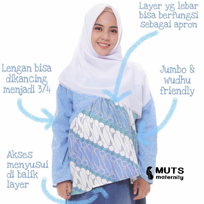 Jual Baju Batik Hamil Menyusui Katun Jumbo Tunik Pastel Kerja Kantor Biru M Kota Bekasi Bajuhamilmenyusui Tokopedia
