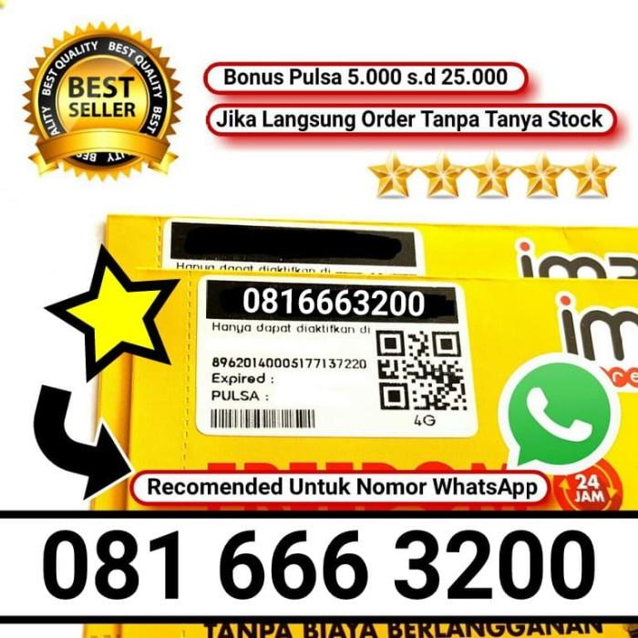Indosat 10 digit nomor cantik im3 4g…