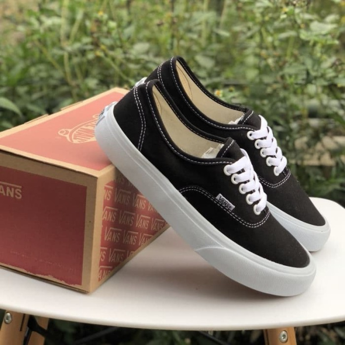 Jual Sepatu Vans Authentic Mono Black White Premium Waffle IFC ... 2b4572a9cf