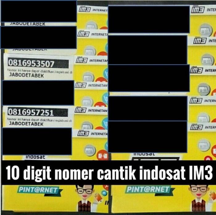 harga Nomer cantik / nomor indosat 10 digit 4g kartu perdana im3 bkn mentari Tokopedia.com