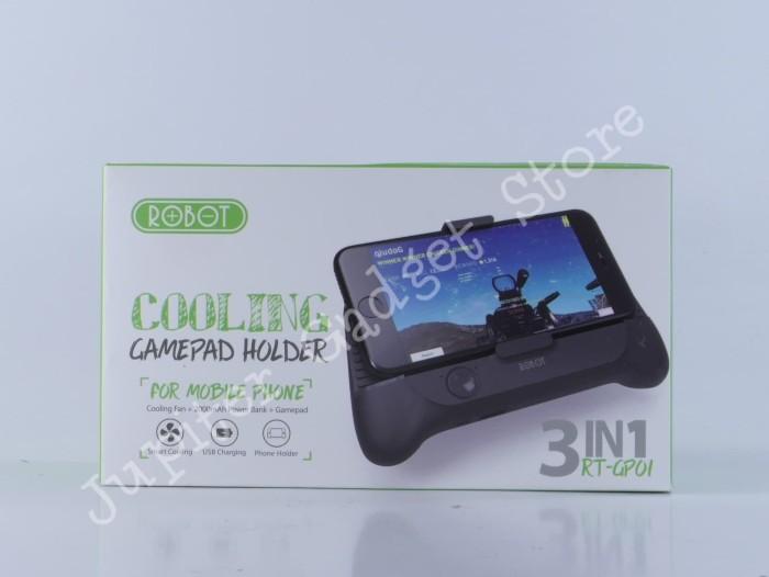 Cooling Gamepad Holder Robot RT-GP01 3in1 - Radiator Stent PowerBank - Hitam