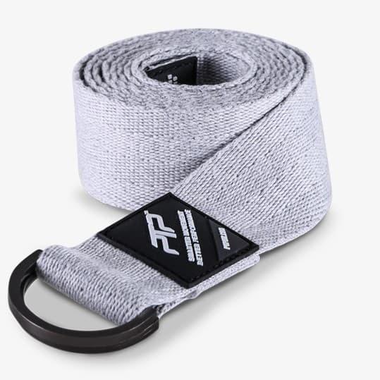 Yoga streching strap light grey