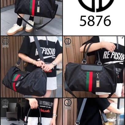 Jual Travel Bag Gucci Waterproof - Hitam - Martin Green World ... 84ccf7afee