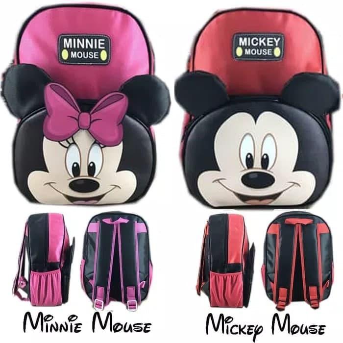 Tas ransel sekolah anak tk karakter miki dan mini premium