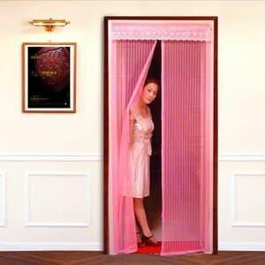 Tirai Pintu Magnet Anti Nyamuk dan Debu Polos - Coklat