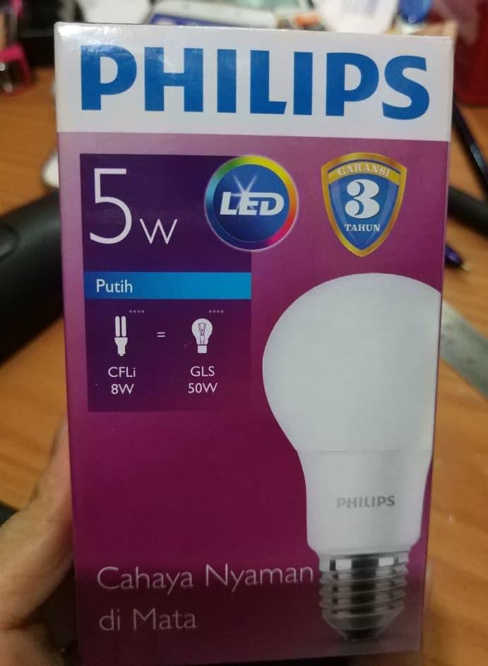 BOHLAM LAMPU PHILIPS LED 5 Watt BULB