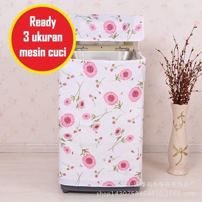 Foto Produk Cover Sarung Pelindung Mesin Cuci Motif C10 Bahan Satin Tebal dari Ji-en Collection