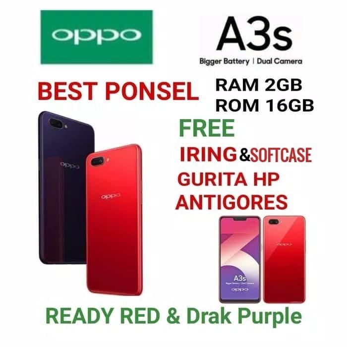 OPPO A3S RAM 2/16GB GARANSI RESMI OPPO INDONESIA 1 TAHUN - Merah
