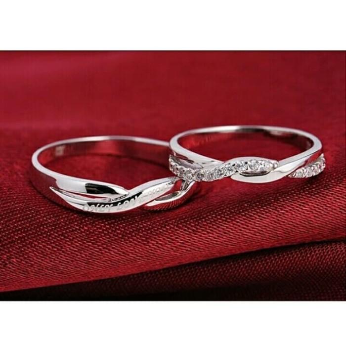 Jual Perhiasan Cincin couple/cincin tunangan perak/ wanita & pria ...