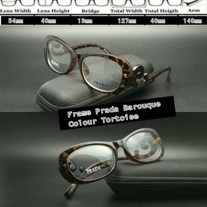 Jual Frame Kacamata Prada keong tortoise kacamata minus kacamata ... 9f98364400