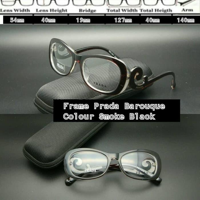 Jual Frame Kacamata Prada keong cokelat kacamata minus kacamata ... c057aac86a