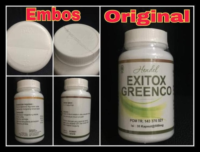 Greenco Exitox Green Coffee Bean Capsule Obat Pelangsing Diet Hendel