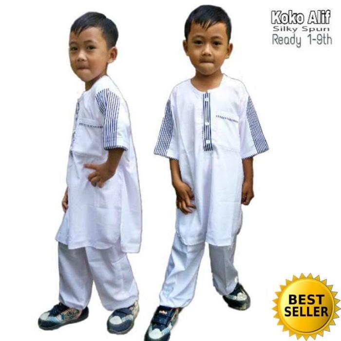 Setelan Baju Anak Premium / Koko Toyobo / Koko Alif 0-9 tahun
