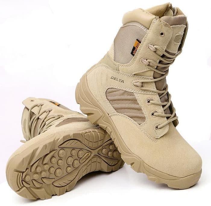 Delta Force Boots 8 Inch Cokelat Kulit 516 Sepatu Outdoor Taktis Impor -  Cokelat Muda d3aa33c980