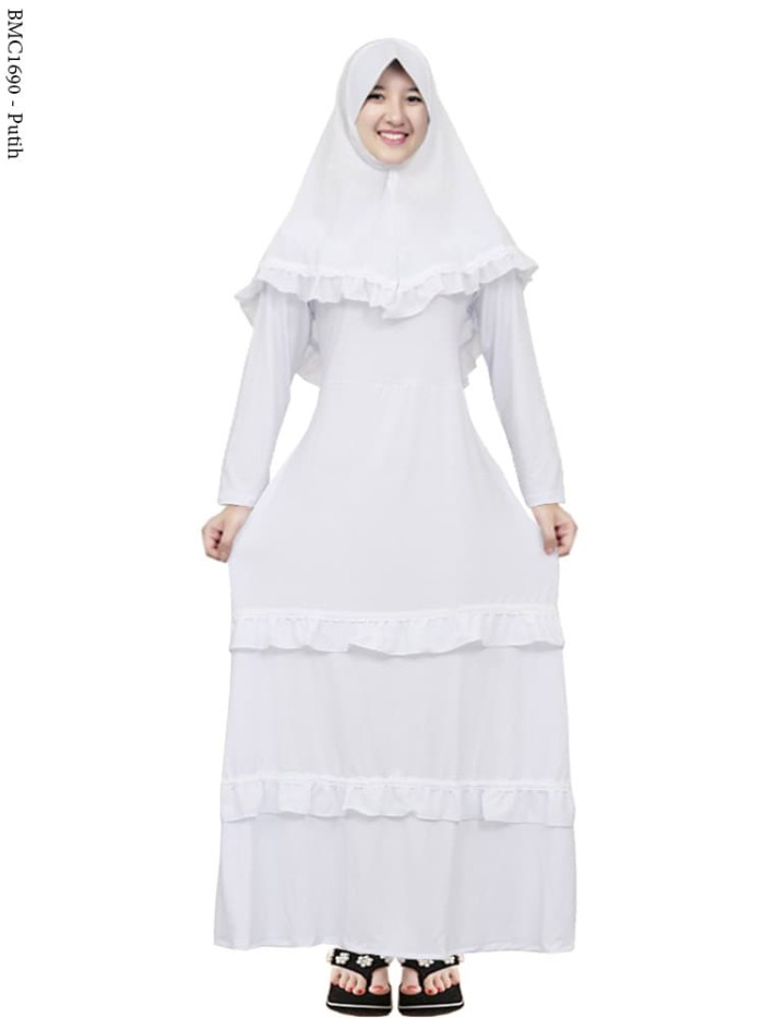 Harga Baju Muslim Gamis Anak Remaja Tanggung Abg Warna Putih Harga