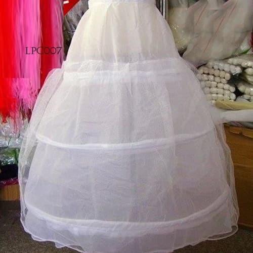 harga Petticoat pengantin l rok dalaman gaun wedding (3ring 1layer)- lpc 007 Tokopedia.com