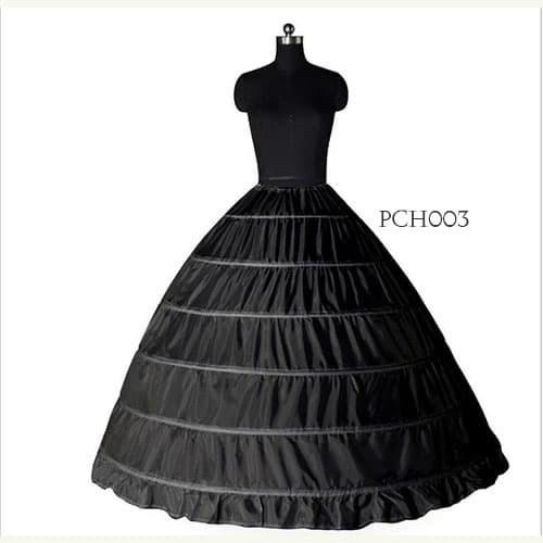 harga Petticoat ball gown hitam(6ring)- rok pengembang gaun pengantin-pch003 Tokopedia.com