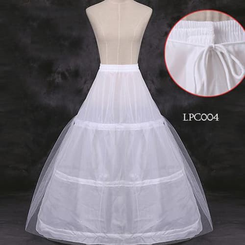 harga Petticoat pesta wedding l rok tutu pengembang gaun(3ring1layer)-lpc004 Tokopedia.com