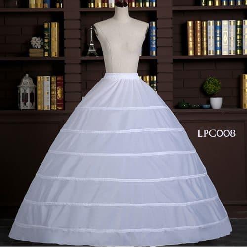 harga Rok dalaman gaun pengantin - petticoat wedding panjang (6ring)-lpc008 Tokopedia.com