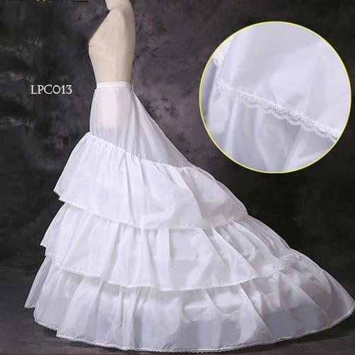 harga Rok dalaman gaun pengantin-petticoat wedding panjang ekor murah-lpc013 Tokopedia.com