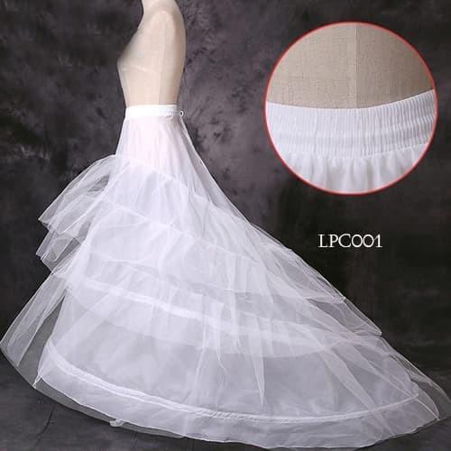 harga Petticoat wedding ekor panjang- rok tutu dalaman gaun pengantin -lpc00 Tokopedia.com
