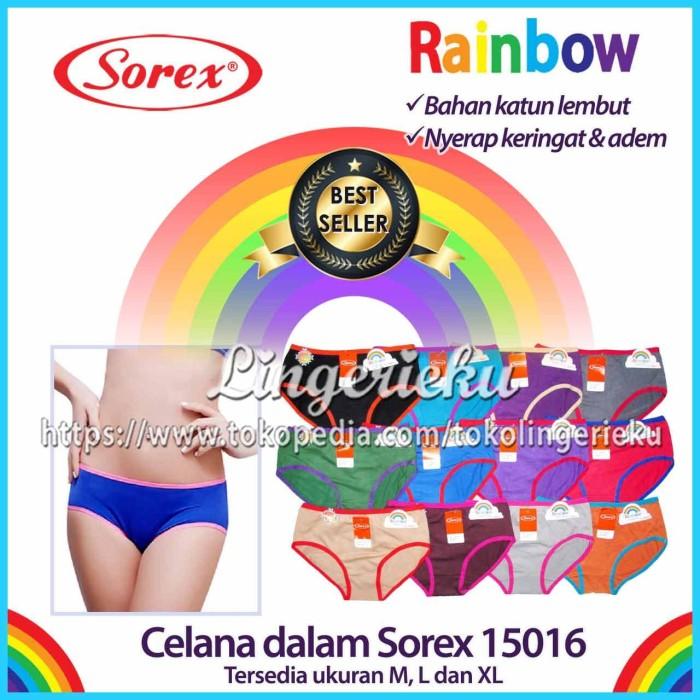 Foto Produk Celana Dalam Wanita Merek Sorex Edisi Rainbow 15016 Dijamin Murah - Random, XL dari Lingerieku