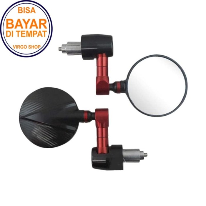 Spion Jalu Unuk Motor Universal Kaca Bulat - Kaca Kebiruan